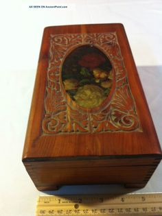 Antique Carved Solid Wood Log Box Edwardian (1901-1910) Boxes/chests