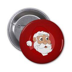 Santa Clause Cartoon Buttons