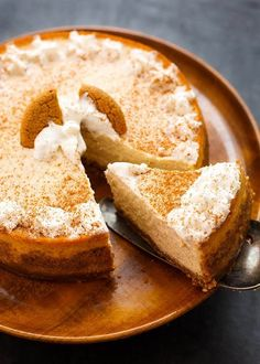 Instant Pot Eggnog Cheesecake is spiced with the warm flavors of cinnamon, nutmeg, & rich eggnog. A favorite Holiday Cheesecake made in the pressure cooker.
