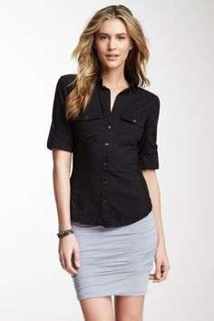 Contrast Side Panel Shirt