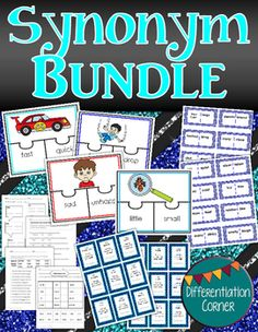 Synonyms Worksheets and Activities Gray Things gray color synonyms Synonym Activities, Synonym Worksheet, Word Wall Activities, Worksheets, Speech Language Therapy, Speech And Language, Language Arts, Word Work Centers, Literacy Centers