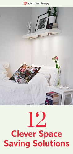 If you're dealing with a common small-apartment problem — a bedroom scarcely large enough for a bed, much less anything else — look no further than this list of clever space-saving solutions. These are some of the best ideas we're seen for tucking away all the stuff that tends to accumulate in a bedroom, and ensuring that your sleeping space will be calm and restful.