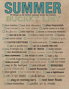 50 things for summer