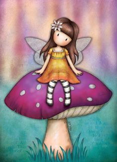 Cute Images, Cute Pictures, Scrapbook Bebe, Santoro London, Mushroom Art, Illustration, Shell Crafts, Fairy Art, Cute Characters