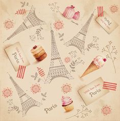 Paris pattern ( with love from Paris by SoNice on Creative Market
