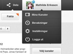 Logged in (web design)  by Hampus Högberg