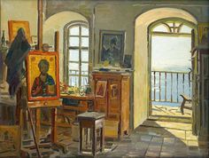 my own painting and photography studio with big windows