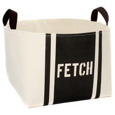 Fetch Canvas Storage Bin