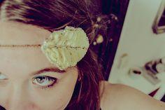 """head band """" Yellow flora """" Vinage, rétro & romantique : Accessoires coiffure par sunshine59"""