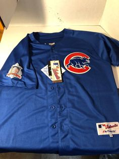9c6041b50 Men s XL Chicago Cubs Anthony Rizzo Authentic Majestic Blue Jersey New W   Tags  Majestic