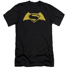 Batman vs Superman Adult Slim Fit Tee - Black