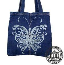 23. BUTTERFLY SCHMETTERLING Jeans Denim Tote Bag Marionelli Tasche  Stofftasche