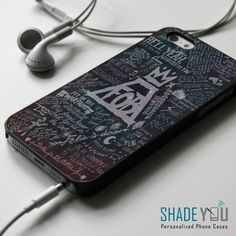 Fall Out Boy Lyrics Space Nebula iPhone 4/4S, iPhone 5/5S/5C, iPhone 6 Case, Samsung Galaxy S4/S5 Cases - Shadeyou Phone Cases