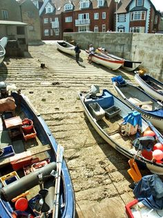 Fishing boats on the launch at sherringham