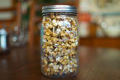 jar of caramel corn