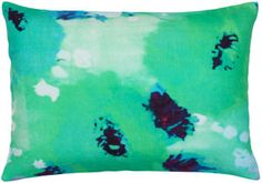100% cotton pillow with blown-up poppy print