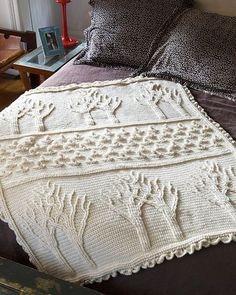 Tree of Life Afghan ( free crochet pattern by Lion Brand Yarn available on Ravelry)