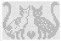 Kitty Love Filet Crochet Grids.  Not in English but you have the grids.