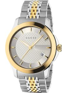 Gucci Men's G-Timeless Collection Watch/Stainless Steel & Gold PVD Gucci Watches For Men, Gucci Men, Cool Watches, Rolex Watches, Elegant Watches, Gold Plated Bracelets, Stainless Steel Watch, Bracelet Watch, Quartz