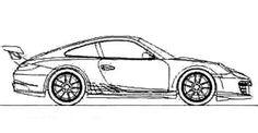 Race Car Sport Porsche Coloring Page - Porsche car coloring pages Race Car Coloring Pages, Printable Coloring Pages, Sport Cars, Race Cars, Girl Bedroom Designs, Porsche Cars, Car Drawings, Designs To Draw, Line Art