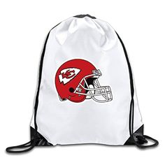 KC Kansas City Chiefs Football Helmets Logo Drawstring Backpack Sports Bag For Men And Women - Brought to you by Avarsha.com
