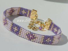 Loom Bracelet Patterns, Beaded Bracelets Tutorial, Bead Loom Bracelets, Bead Loom Patterns, Beaded Jewelry Patterns, Loom Beading, Bead Weaving, Bead Crochet, Handmade Jewelry