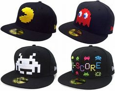 Geeky Headgear from New Ear - Pac Man Hat! Skate Hats, Geek Mode, Dope Hats, New Era Fitted, New Era Hats, Men's Fashion, Retro Videos, Cultura Pop, Snapback Cap