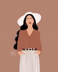 Illustration Mode, Illustration Art Drawing, Portrait Illustration, Girl Illustrations, Drawing Artist, Kunstjournal Inspiration, Arte Fashion, Fashion Blogs, Fashion Fashion