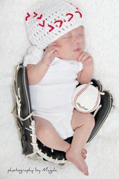 Baby photography. Baseball photo