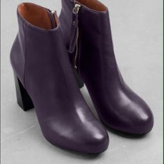 Heeled leather ankle boots! Heeled leather ankle boots! & other stories Shoes Heeled Boots