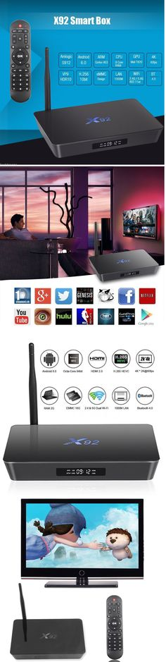 Internet and Media Streamers: X92 S912 Octa Core Android 6.0 Tv Box 16.1 Fully Loaded Wifi 16Gb 4K Movie BUY IT NOW ONLY: $60.65
