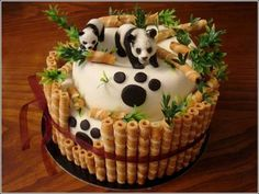 16 Creative Bamboo and Panda Cake DIY Ideas | iCreativeIdeas.com Follow Us on Facebook --> https://www.facebook.com/iCreativeIdeas