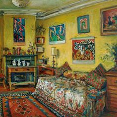Margaret Olley (Australia, 1923-2011)  Yellow Room, Afternoon (1990)