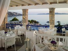 At Dolphins of Delos Restaurant, our culinary team sources all herbs from our garden and ingredients throughout Greece. The wine list featuring everything from the islands to traditional wine regions of the mainland, is expansive enough to satisfy the most passionate oenophile.  Open for breakfast and a la carte dinner daily