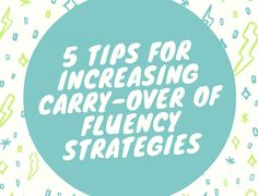 5 Tips for Increasing Carry-Over of Fluency Strategies - Speech And Language Kids Speech Language Pathology, Speech And Language, Cv Words, Fluency Practice, Speech Room, Teaching Aids, Speech Therapy Activities, Therapy Ideas, Tips