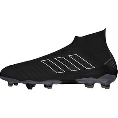 adidas Predator 18+ FG – Black Black White. Soccer GearAdidas Soccer  CleatsSoccer ShoesAdidas PredatorFootball DrillsFootball BootsFootball ... 52874db30