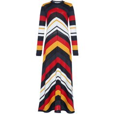 Multi Color Stripe Dress   Moda Operandi (3.365 RON) ❤ liked on Polyvore featuring dresses, multicolor dresses, colorful maxi dress, multi colored striped dress, multicolor maxi dress and multi colored dress