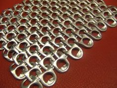 Construct a genuine European 4 in 1 chainmaille weave using only pop tabs. Such a stylish DIY project!