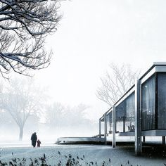 NextBauhaus Design Movement // Farnsworth House designed by Mies van der Rohe in 1945 and constructed in 1951 |