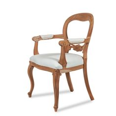 Dutch Plain cab Leg carver.A mahogany Victorian balloon back carver, the Dutch plain cabriole leg carver has a beautiful rounded back, floral carvings on the centre rail, cabriole splayed legs and an overstuffed seat. The Dutch plain cabriole leg carver is often matched with the Dutch plain cabriole leg dining chair. Available in any paint, polish or fabric. www.againstthegrain.co.uk