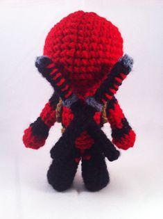 PDF CROCHET PATTERN Deadpool Inspired Chibi by AmiAmaLiliumDesigns