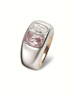 Ring. Stainless steel, red gold, pink diamond, white gold. Hemmerle Jewellers (stand 141). TEFAF 2015 Haute Joaillerie (13-22 March 2015) alaintruong2014.files.wordpress.com 2015 01 3190.jpg