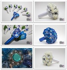 #blue and #white look #amazing #together! When these #colors are put together they never disappoint! What are your thoughts on these ones?  #alternativebouquet #stunning #roses #sparkles #alternative #wedding #bride #instaweddings #handmade #love #weddingparty #celebration  #bridesmaids #forever #collage #romance #marriage #weddingday #buttonbouquets #fashion #flowers #australia  www.nicsbuttonbuds.com.au www.facebook.com/nicsbuttonbuds www.pinterest.com/nicsbuttonbuds…