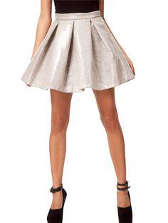 Warehouse Iridescent Sequin Disc Skirt: 100 Skirts for Summer: Style: teenvogue.com