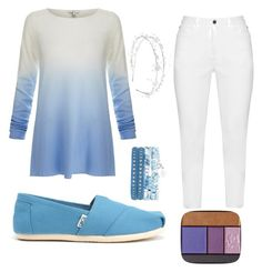 """Elsa - Frozen"" by maryevelynew ❤ liked on Polyvore featuring Joie, Zhenzi, TOMS, Lancôme and Linni Lavrova"