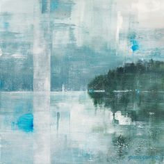 """Intervals SOLD Gina Sarro Original acrylic on wood panel 16 x Wood Paneling, Abstract Landscape, West Coast, Vancouver, The Originals, Artwork, Artist, Landscapes, Paintings"