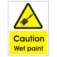 caution wet paint 150x200mm Self Adhesive UK Warning Signs http://www.amazon.co.uk/dp/B002DFX7GO/ref=cm_sw_r_pi_dp_4i3Jtb17K2ZWF0TV