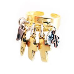 Statement rings with crosses and hearts. Boho rings, trendy rings,... ❤ liked on Polyvore featuring jewelry, rings, gold cocktail rings, gold heart ring, gold cross ring, cross ring and gold silver ring