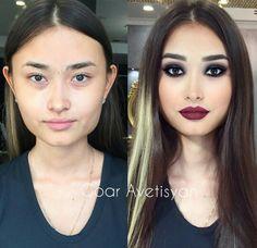 Wedding makeup for fair skin brides eyebrows ideas Amazing Makeup Transformation, Fair Skin Makeup, Contour Makeup, Hair Makeup, Make Up Looks, Power Of Makeup, Love Makeup, Asian Makeup Before And After, Makeup Looks