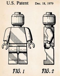 #LEGO Toy Patent Prints Minifigures Mini Figures Movie Poster Drawings Kids Decor #Vintage #PatentArtPrints
